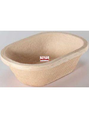 Gärform – Brotform oval für 750 g Teiggewicht, aus Holzschliff; Derzeit nicht lieferbar