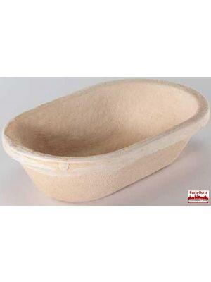 Gärform – Brotform oval für 1000 g Teiggewicht, aus Holzschliff; Derzeit nicht am Lager